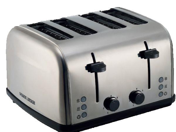 BLACK & DECKER ET304   4 SLOT TOASTER